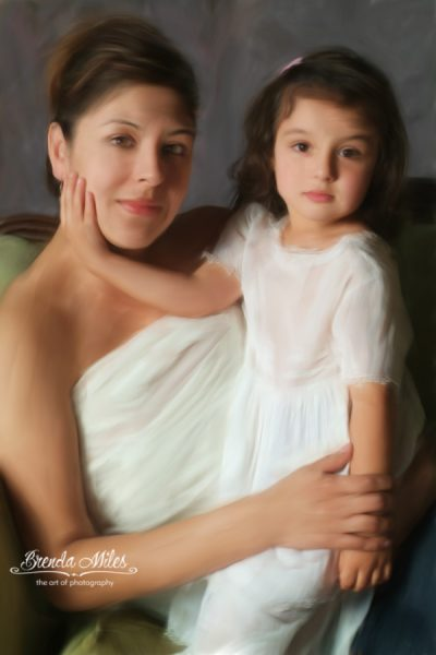 Studio Photo Portrait of Mother and Daughter