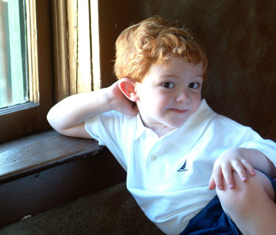 Studio Portrait of Young Boy with Window Light