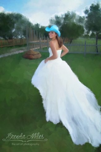 Painted Bridal Portrait