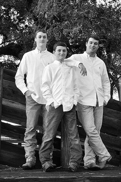 portrait of three brothers