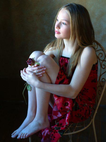 Studio Portrait of Young Girl with window light